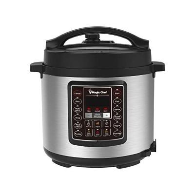 Magic Chef MCPMCSMC10S7 6 Qt. All-in-One Multi-Cooker, 14.80in. x 13.30in. x 13.00in, Silver/Black 並行輸入品