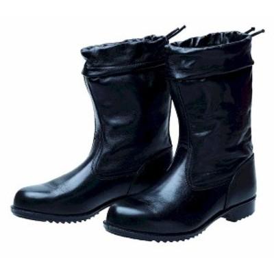 【個数:1個】ディアドラ DIADORA 4979058032003 直送 代引不可 安全靴 半長靴 カバー付 ラバー1層底 耐滑 ソフト半長靴セブン ブラック