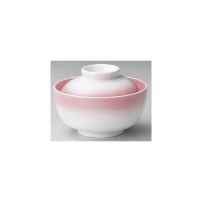 和食器ピンク吹円菓子碗/大きさ12×8.3cm・250cc