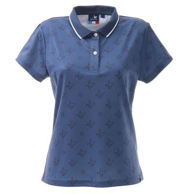 クランクシャツプリントポロシャツ CL5HUG14 NVYネイビー