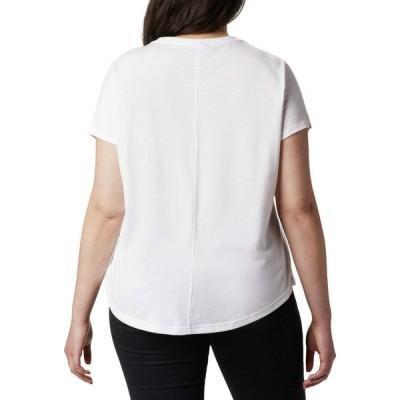 コロンビア Columbia レディース Tシャツ 大きいサイズ トップス Plus Size Cades Cape Tee White