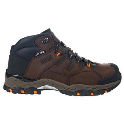 ホスブーツ メンズ ブーツ・レインブーツ シューズ Tracker Brown Waterproof Composite Toe EH Work Boots