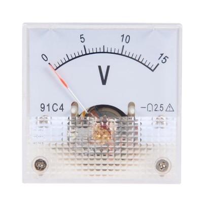 uxcell 電圧計 アナログパネル電圧ゲージ ABSプラスチック DC 0-15V 2.5%エラー 91C4