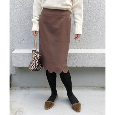 スカート スカラップタイトスカート