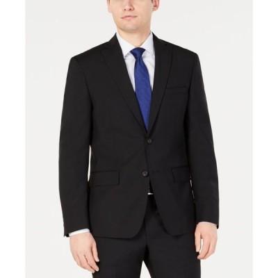 ダナ キャラン ニューヨーク メンズ ジャケット・ブルゾン アウター Men's Modern-Fit Stretch Black Solid Suit Jacket