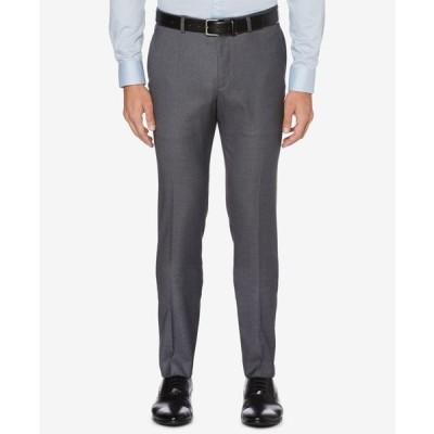 ペリーエリス メンズ カジュアルパンツ ボトムス Perry Ellis Men's Portfolio Skinny-Fit Nailshead Dress Pants