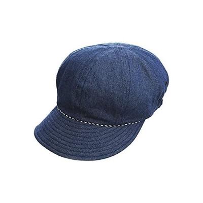 コジット 装飾雑貨(ファッション小物) ネイビー 頭囲56~58cm対応 UV99%カット 髪型ふんわり デニム キャスケット