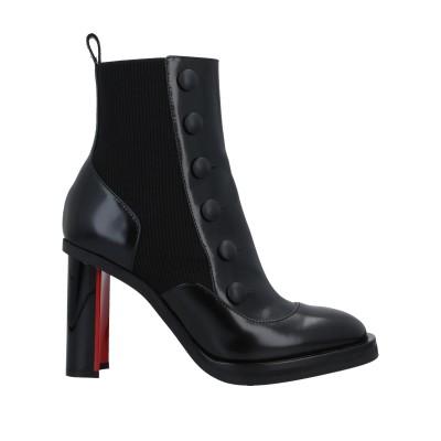 アレキサンダー マックイーン ALEXANDER MCQUEEN ショートブーツ ブラック 35 革 / 紡績繊維 ショートブーツ