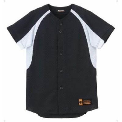 DESCENTE ヤキュウ ソフト ジュニア ユニフォーム コンビネーションシャツ 16SS BKSW Tシャツ(jdb48m-bksw)