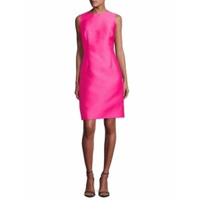 オスカーデラレンタ レディース ワンピース Sleeveless Silk-Blend Shift Dress