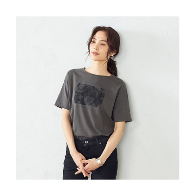 <COMME CA ISM(Women)/コムサ イズム> フォトプリント Tシャツ(1264CT06) 08【三越伊勢丹/公式】