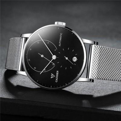 ★日本未発売★CADISEN メンズ腕時計 スチールバンド 防水時計 2018 男性用腕時計 海外輸入品【領収発行可】