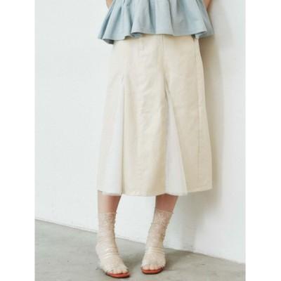 【メリージェニー/merry jenny】 チュールとデニムのスカート