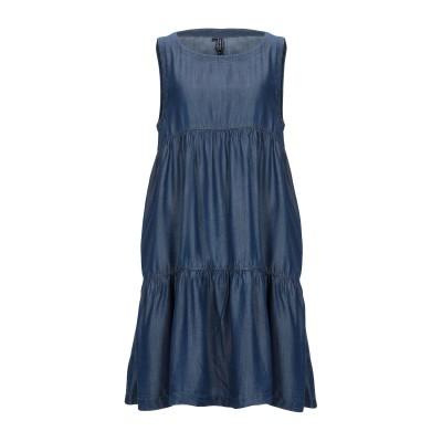 AVANTGAR DENIM by EUROPEAN CULTURE ミニワンピース&ドレス ブルー S テンセル 100% ミニワンピース&ドレス