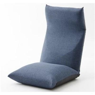 ds-2198208 ヘッドリクライニング座椅子/リラックスチェア 【ネイビー】 座面ポケットコイル入り 日本製 〔リビング雑貨 生活雑貨〕【代