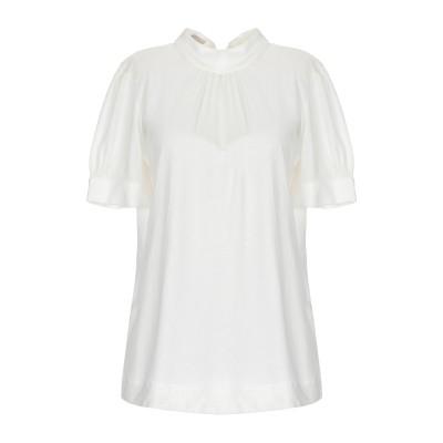 STEFANEL T シャツ アイボリー XS テンセル 70% / ウール 30% T シャツ