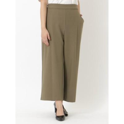 【大きいサイズ】両脇釦付パンツ 大きいサイズ パンツ レディース
