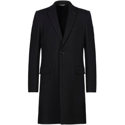 ドルチェ & ガッバーナ DOLCE & GABBANA コート ブラック 48 バージンウール 76% / ナイロン 20% / ポリウレタン 4