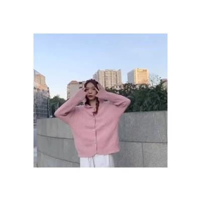 【送料無料】~ 冬 女 デザイン 感 オーバーサイズ シングル列ボタン 帽子付き ニットのセ | 346770_A64200-5849262