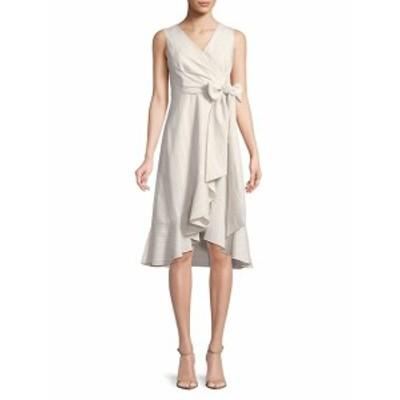 カルバンクライン レディース ワンピース Ruffle Trim Wrap Dress