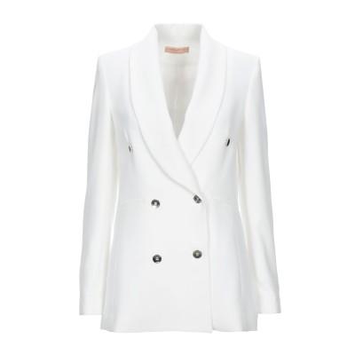 PAOLA PRATA テーラードジャケット ホワイト 40 ポリエステル 100% テーラードジャケット