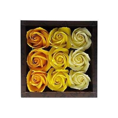 九州フラワーサービス お花のカタチの入浴剤 ローズフレグランス 9輪入り ローズY 753213