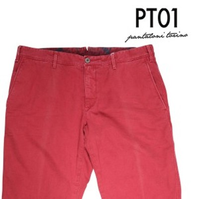 【50】 PT01 ピーティー ゼロウーノ パンツ TT19 メンズ 春夏 レッド 赤 並行輸入品 ズボン 【訳あり】