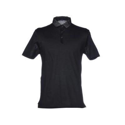 ランバン LANVIN ポロシャツ ブラック S 100% コットン ポロシャツ