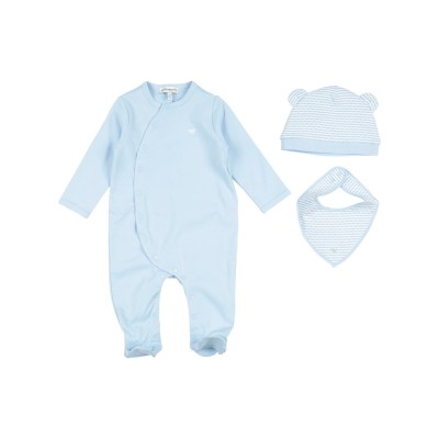 エンポリオ アルマーニ EMPORIO ARMANI 乳幼児用ロンパース スカイブルー 3 コットン 100% 乳幼児用ロンパース