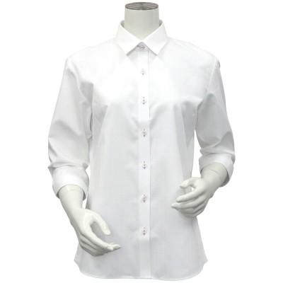 トーキョーシャツ TOKYO SHIRTS 形態安定ノーアイロン レギュラー衿 七分袖ビジネスワイシャツ (ホワイト)
