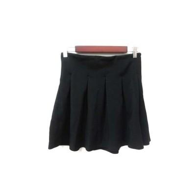 【中古】ビッキー VICKY フレアスカート ミニ 2 黒 ブラック /YI レディース 【ベクトル 古着】