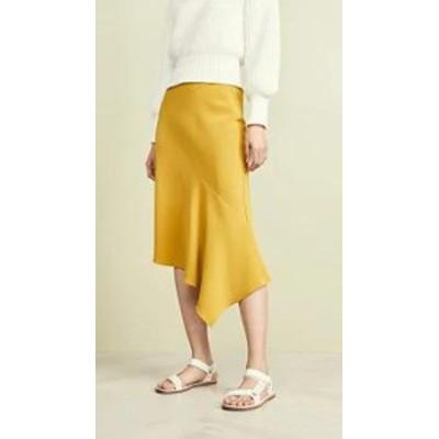TSE Cashmere レディーススカート TSE Cashmere Draped Bias Skirt Summer Olive