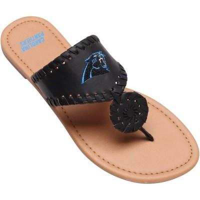 フォーエバーコレクティブルズ レディース サンダル シューズ Carolina Panthers Women's High End Monotone Whipstitch Sandals