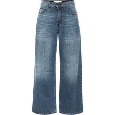 マルニ Marni レディース ジーンズ・デニム ボトムス・パンツ High-Rise Wide-Leg Jeans Azure