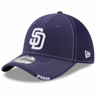 New Era ニュー エラ スポーツ用品  New Era San Diego Padres Navy Logo Neo 39THIRTY Flex Hat