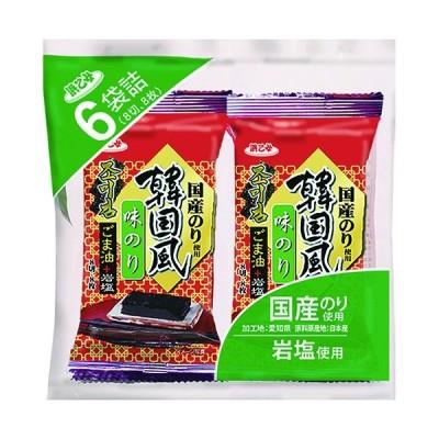 海苔 国産 韓国海苔 韓国風味付のり 6P(720枚/8切8枚×6袋×15個セット)
