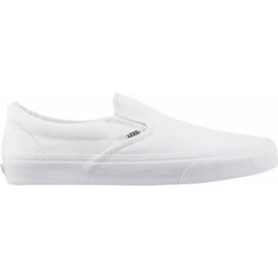 バンズ レディース スニーカー シューズ Vans Classic Slip-On Shoes White/White