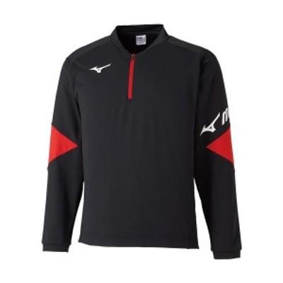 ◆◆<ミズノ> MIZUNO ライトスウェットシャツ(ハーフジップ)(ユニセックス) 62JC0510 (09)  テニス バドミントン
