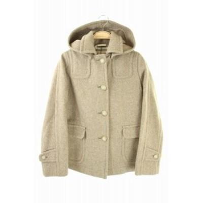 【中古】トラディショナルウェザーウェア Traditional Weatherwear コート フード ショート 32 ベージュ レディース