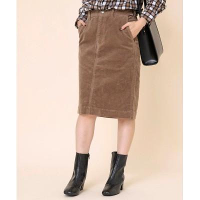(coen/コーエン)コーデュロイタイトミディアムスカート#(タイトスカート/コーデュロイスカート)/レディース BEIGE