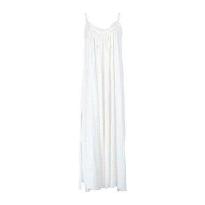 ALLSAINTS ロングワンピース&ドレス ホワイト M/L コットン 100% ロングワンピース&ドレス