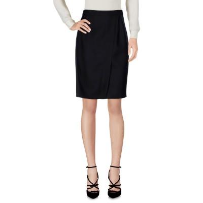 ディースクエアード DSQUARED2 ひざ丈スカート ブラック 38 バージンウール 65% / シルク 35% ひざ丈スカート