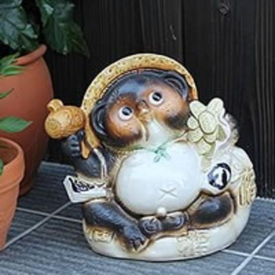 小判 たぬき 置物 名入れ 8号 座り 狸 信楽焼縁起物やきもの 和風 陶器 【手作り】