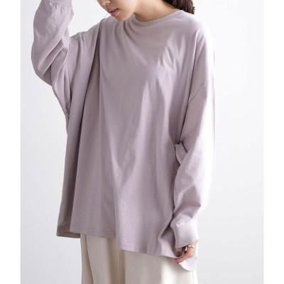 ビス ViS 【WEB限定】ビッグシルエットロングTシャツ (ラベンダー(52))