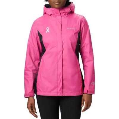 コロンビア ジャケット&ブルゾン アウター レディース Columbia Women's Tested Tough In Pink II Rain Jacket PinkIce/Black