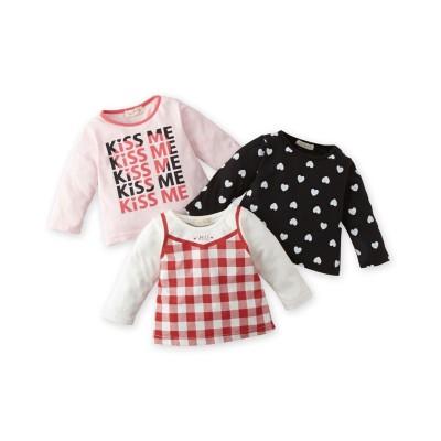 女の子プリントTシャツ3枚組 (Tシャツ・カットソー)Kids' T-shirts