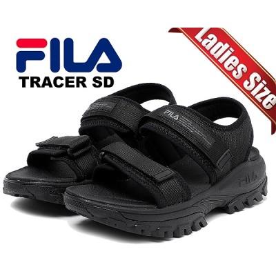 【フィラ トレーサーサンダル】FILA TRACER SD black/black/black 1sm00734-001 ブラック レディース ベルトストラップ 厚底 SANDAL