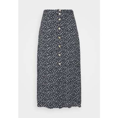 レディース ファッション NUCARLY SKIRT - Maxi skirt - black