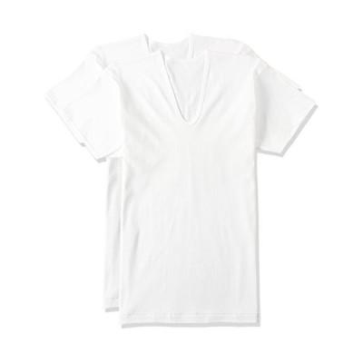 [グンゼ] インナーシャツ 遠赤フライス 綿100% 半袖U首 2枚組 RP58162 メンズ ホワイト 日本M (日本サイズM相当)