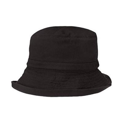 [ムーンバット] ERAVEL TRAVEL(エラベルトラベル) 調整ゴム入りブルトン 洗濯機洗い可能 【UV対策】 レディース ブラック